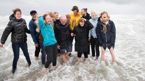 GLEDE: Denne gjengen i Rachel Carson-prisen feirer at jærkysten er godkjent som «Hope spot».