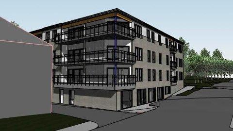 GODKJENT: Slik kan nybygget Sentrumsgården i Torggata på Nærbø bli.