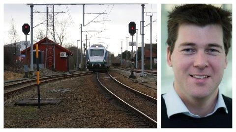Banesjef Atle Havnerås i Bane NOR er bekymret for det høye antallet jærbuer som forviller seg til fots inn på toglinja. (Foto: Nils-Ove Støbakk/Privat)