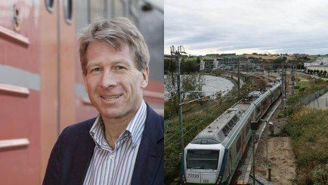 Markeds- og kommunikasjonssjef i NSB Sør, Dag Brekkan, er glad for at det blir tog uten opphold på Jærbanen denne sommeren. Foto: NSB/Åge Bjørnevik