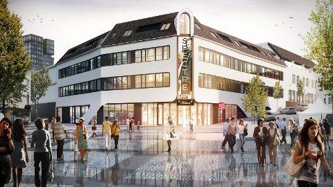 Slik kjem det nye kinobygget på Bryne til å sjå ut.