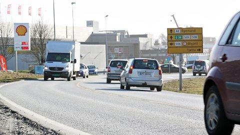 Oppgradering av fylkesveg 44 ved Bryne er ein del av Utbyggingspakke Jæren.