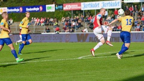 Mads Bøgild er farlig frampå, men det blir ingen scoring denne gangen heller.