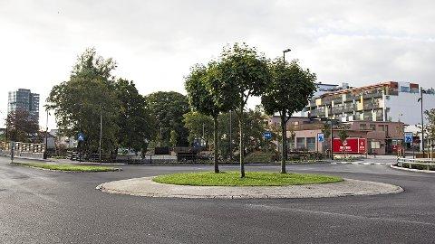 JUBILANTKUNST: Neste år er det 100 år sidan Bryne fekk namnett sitt. Kunstverket i rundkøyringa mellom Arne Garborgs veg og Reevegen, skal markera jubileet.