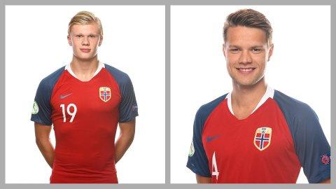Både Erling Braut Håland og Tord Johnsen Salte startet kampen mot Finland.