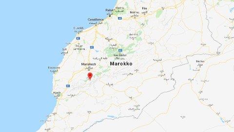 Kvinnene var i eit fjellområde i El Haouz-provinsen, rundt ti kilometer frå turistlandsbyen Imlil i Marokko.