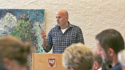 Bjarte Solheim er i dag åleine frå Venstre i kommunestyret i Time kommune.