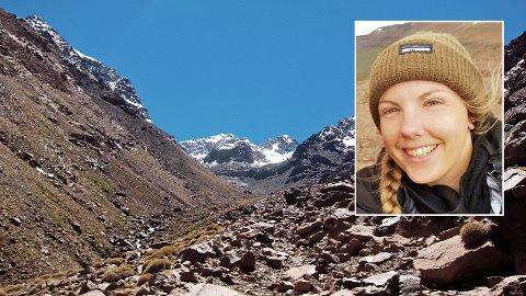 Maren Ueland (28) døydde i Imlildalen i Marokko, ikkje langt frå fjellet Toubkal.