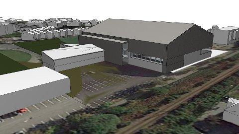 Den nye storhallen kjem inne på stadionområdet på Bryne, og skal mellom anna innehalda fotballhall, to fleirbrukshallar og klatrevegg.