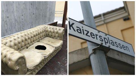 Berre kort tid etter Kaizersplassen var ferdig, hadde fire ungdommar sparka sund den spesialimporterte Chesterfield-sofaen av betong.