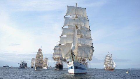 24. juli kommer flere av seilskutene i Tall ship races til Sirevåg.