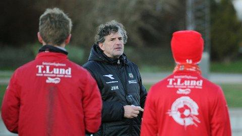 Jan Halvor Halvorsen på årets første trening.