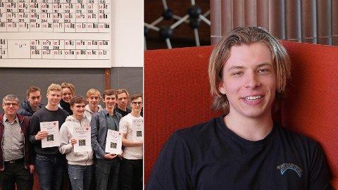 Av 1238 norske elever kom Håkon Ødemotland Gundersen på delt niendeplass.