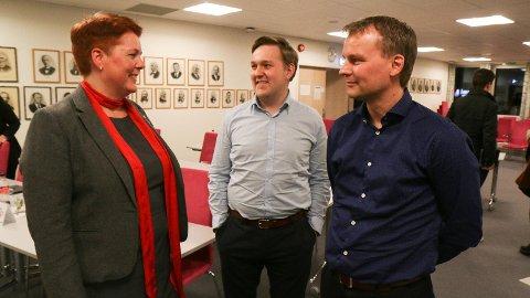 Wibecke Natås (Ap), Jan Erik Tuen (H) og Olaus Trygve Bjuland (KrF) representerer kvar sitt parti, men er alle opptekne av skulepolitikk.