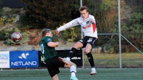 Scott Vatne, som kom til Frøyland fra Bryne i vinter, scoret kampens første mål.