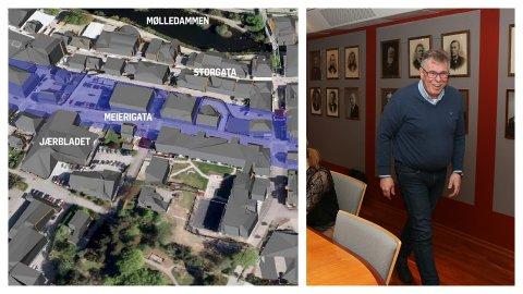 Petter L. Stabel seier at planane til M44 endrar behova for å realisera ein fjellhall under Bryne sentrum.