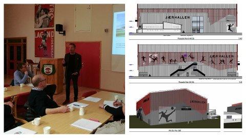 Styreleiar Nils Steinsland fekk støtte av årsmøtet til å gå vidare med utviklinga av stadionområdet.