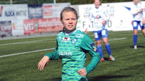 FIKK SJANSEN: Anette Snørteland Jensen var en av reservene som fikk spille mot Haugar i andre NM-runde.