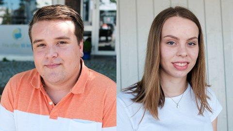 LETER: Andreas Dregelid Kindervaag og Victoria Gravdal er begge på jakt etter en læreplass fra høsten.