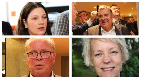 FEKK EKSTRA STEMMER: Her ser du fire av dei ti mest populære politikarane i Time. Frå venstre oppe ser du Maren Vardøy-Lie (Ap), Reinert Kverneland (Høgre), Bjarne Undheim (Sp) og Ingrid Fiskaa (SV).