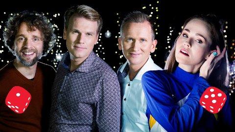 TERNINGKAST 1 og 5: Nordic Tenors, med Jan-Tore Saltnes, Sveinung Hølmebakk og Roald Haarr, fikk terningkast 1 av VG. Hege Bjerk fikk terningkast 5. Pressefoto: NRK