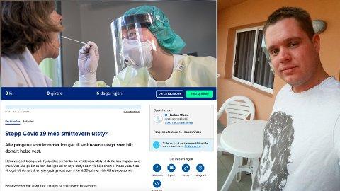 ØNSKER FELLESDUGNAD: Haakon Olsen fra Varhaug har startet sin egen innsamlingsaksjon på Spleis.no i håp om å bistå Helse Vest med ytterligere smittevernsutstyr.