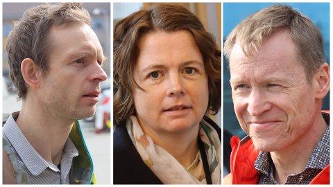 LITE SMITTE: Fra venstre til høyre: Kommuneoverlege i Time, Øystein Øgaard, kommuneoverlege i Hå, Gerd Signy Omland og kommuneoverlege i Klepp, Roman Benz. De kan alle glede seg over at det ikke er registrert smittetilfeller av covid-19 siden midten av april.