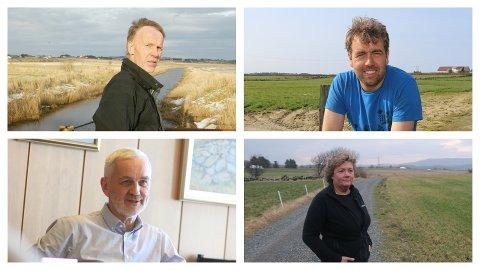 JORDSKIFTEMEDDOMMERAR: Oppe frå venstre: Bertran Trane Skadsem, Tore Refve, Arild Børge Skjæveland og Siri Mossige.