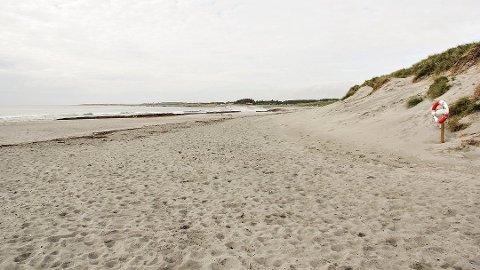 IKKJE AKSEPTABELT: Elva Salteåna ved Refsnesstranda bør ikkje badast i.