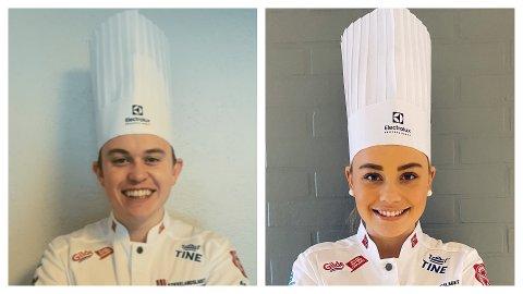 MAT: Aron (24) og Martine (20) Espeland er begge fra Bryne og begge skal representere kokkelandslaget i år. Martine er på juniorlandslaget, mens Aron er på seniorlandslaget.