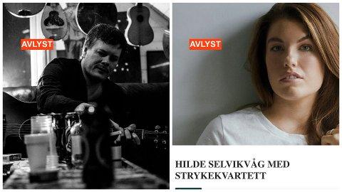 KOLLASJ: Smittetiltak gjør at General Forsamling og Hilde Selvikvåg må avlyse oppsatte konserter.