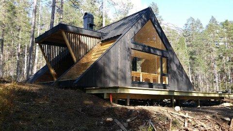 En slik hytte vil stå klar på Njåfjell i desember.