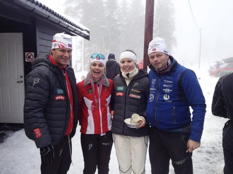 Team Nordre Vestfold: Jon-Erik Knotten, teamleder, Tirill Kristine Knotten, Ivrig, Emilie Thrane, Hof IL og Per Kristian Hegg.