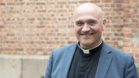 Førte gang: Søndag kommer den nye biskopen i Tunsberg til Holmestrand kirke for første gang.