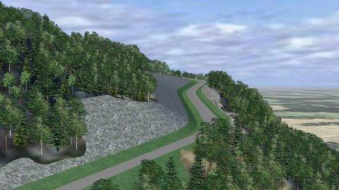 NY VEI: Diskusjonen går på om den planlagte nye veien mellom Sjøskogen og Kleivan er verdt investeringen.