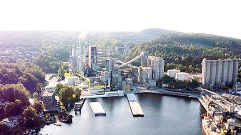 Klart for bygging: Norcems karbonfangstanlegg vil integreres inn i fabrikken og stå ferdig i 2024. Pressefoto
