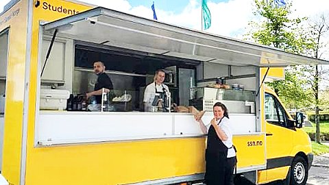 Burgerbonanza: SSNs egen foodtruck skal på veien med gratis burgere til alle USNs campuser. Foto: Studentsamskipnaden