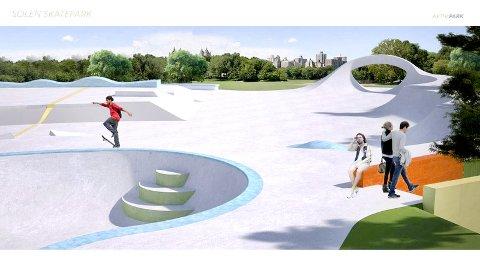 Langt dyrere: Det eneste tilbudet som kom i på bygging av skateparken på Kalstad, er rundt 3,5 millioner kroner dyrere enn kostnadsoverskapet som kommunen hadde gjort.