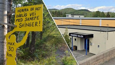 FIKK PENGER: Politikerne vedtok blant annet å gi én million til utbedring av Skåtøyveien og 1,2 millioner til garderobe i Kragerøhallen