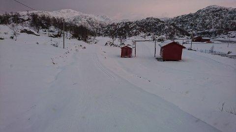 Slik ser det ut i Fjellhaugen tysdag. (Foto: Fjellhaugen Skisenter).
