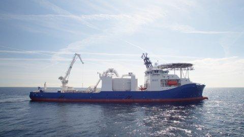 Palfinger Marine har levert dekksutstyrpakke til «NKT Victoria» som blei kåra til Årets skip. (Pressefoto: NKT).