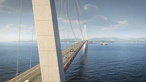 Broen over Bjørnafjorden er dobbelt så dyr som tunnelsystemet utenfor Stavanger som nå er stoppet.