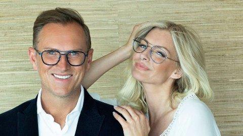 Halvor Bakke og Kathrine Sørland er Specsavers-ambassadørar og med i fagjuryen som skal vera med på å kåra Årets Brillemodell. Dei oppmodar kvinnheringar om å bli med i konkurransen. (Pressefoto).