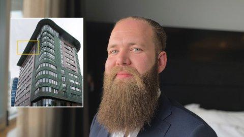 HOTELLSUITEN: I stedet for å ringe en boligmegler da han skulle flytte, ringte Joakim Saltveit til hotelldirektøren på Clarion Hotel Stavanger med en spesiell forespørsel. Foto: Montasje (Magnus Ekeli Mullis/Nordic Choice)