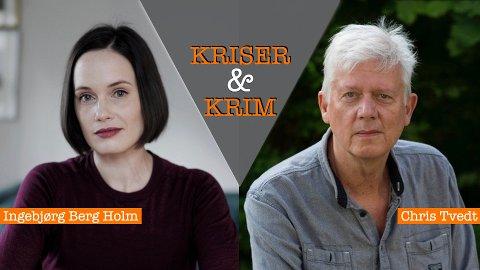 Forfattarane Ingeborg Berg Holm og Chris Tvedt skal samtala med forfattar Anders Totland om korleis kriser og krim påverkar litteraturen.