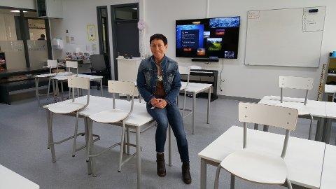 LEDIG KLASSEROM: Førsteklasse på Raumyr går fra tre klasser dette skole året til to denne høsten. Det forteller rektor Ann-Elin Urdal.