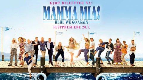 DEN ULTIMATE SOMMERFILMEN? Mamma Mia - Here We Go Again har premiere fredag. Og på Krona kino i Kongsberg inviteres det til festpremiere.