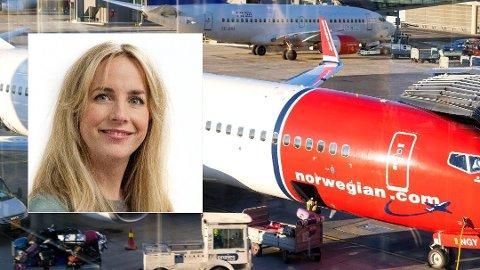 NYE REGLER: Norwegian justerer bagasjereglene etter massiv kritikk fra kundene, opplyser Tonje Næss.
