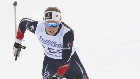 40. PLASS: Rollagjenta Karoline Simpson-Larsen ble nummer 40 i sin verdenscupdebut.