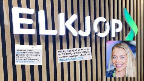 FALSKE MELDINGER: - Falske meldinger og eposter er i omløp. Vi setter stor pris på at kunder henvender seg til oss og melder inn, sier kommunikajonssjef Madeleine Schøyen Bergly i Elkjøp Norge.